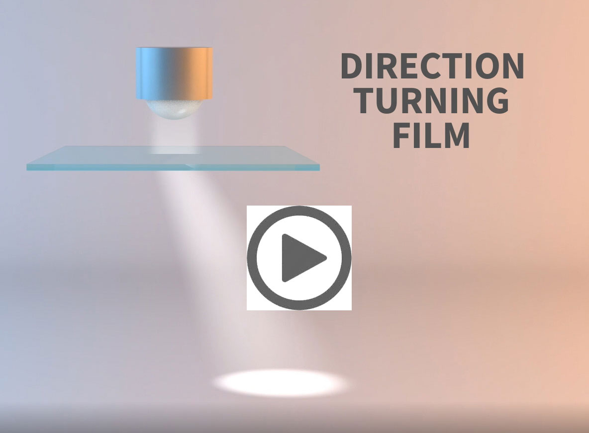spreading a light source with direction turning film