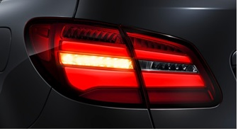 german car tail light with LEDs