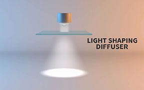 video showing how light shaping diffusers reshape LED light