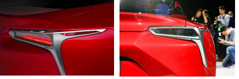 Tesla taillight designs