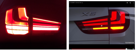 X5 taillights