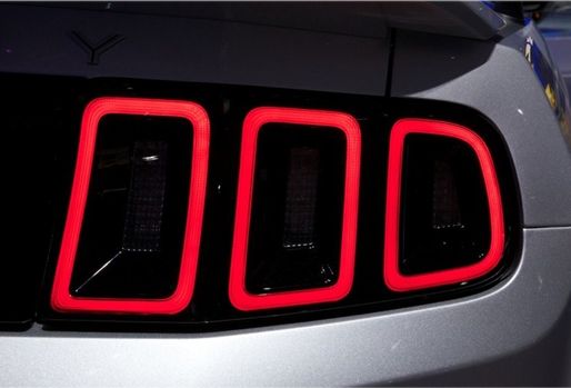 diffused taillight of mustang