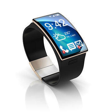 micro LED diffusers for smart watches