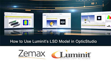 webinar showing how to use Zemax with Luminit Light Shaping Diffusers